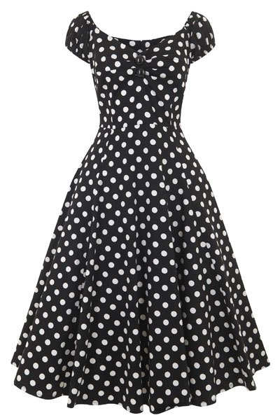 6bba8da231d9 Collectif clothing Dolores doll dress black polka in the group Women    Dresses at Sivletto -