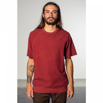 Brixton Cody S/S Crew Burgundy in the group Clearance / Men / T-shirts at Sivletto - Skylark AB (w12033)