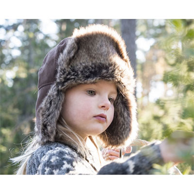 CTH Esbjörn Jr Faux suede brown in the group Kids / Accessories at Sivletto - Skylark AB (w12094)