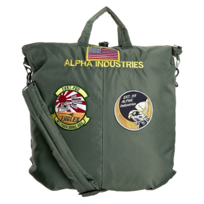 Alpha Industries Helmet Bag sage green in the group Clearance / Men / Misc at Sivletto - Skylark AB (w12157)