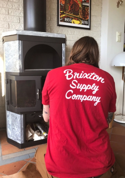Brixton Thrift Tee Red in the group Clearance / Men / T-shirts at Sivletto - Skylark AB (w12201)