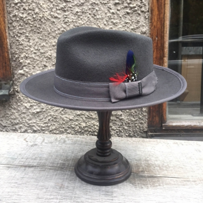 Stetson Virginia Woolfelt Grey in the group Men / Headwear / Hats at Sivletto - Skylark AB (w12285)