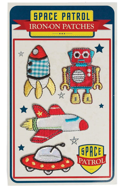 Iron on patches space cadets in the group Kids / Accessories at Sivletto - Skylark AB (w12328)