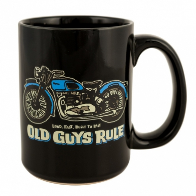 Old Guys Rule Triumph Mug Black in the group Home and stuff / Kitchen & edibles at Sivletto (w12449)