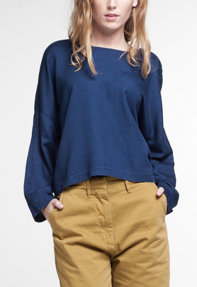 KOI Amelia Top Mid Indigo in the group Clearance / Women / Tops etc at Sivletto (w12464)