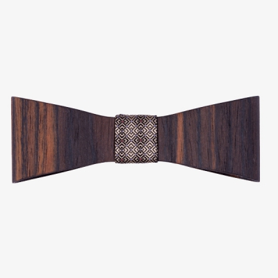 Sapid Wooden Bow Tie Ebony in the group Sale! / Men / Misc at Sivletto - Skylark AB (w12478)