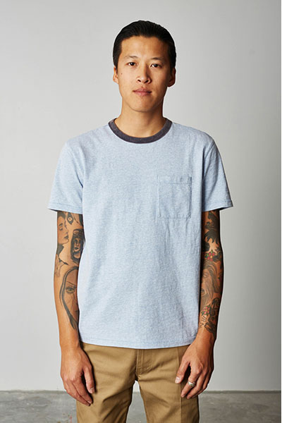 Brixton Cade pocket tee in the group Clearance / Men / T-shirts at Sivletto - Skylark AB (w12614)