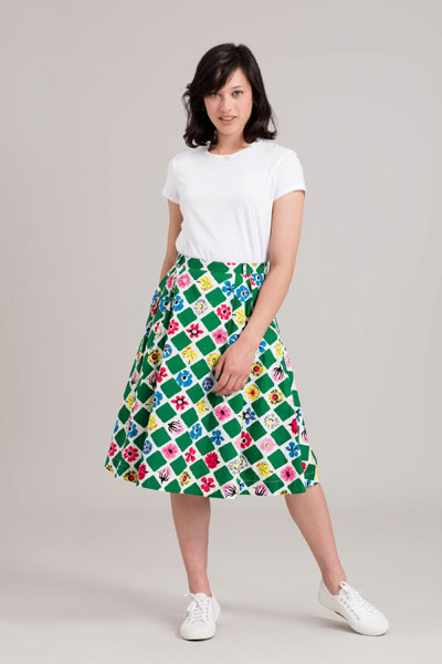 Emily and Fin Pippa skirt the square garden in the group Clearance / Women / Skirts at Sivletto - Skylark AB (w12666)