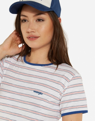 Wrangler Retro tee white in the group Sale! / Women / Tops, jackets etc at Sivletto - Skylark AB (w12716)