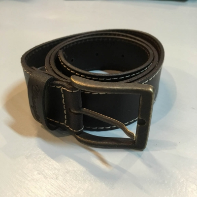 Wrangler Stitched belt brown in the group Men / Suspenders, belts etc at Sivletto - Skylark AB (w12723)
