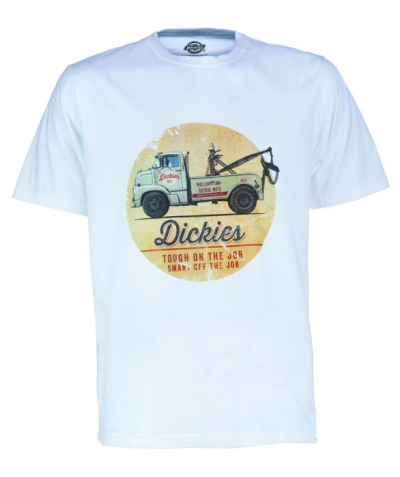 Dickies Russellville Tee White in the group Sale! / Men / T-shirts at Sivletto - Skylark AB (w12756)