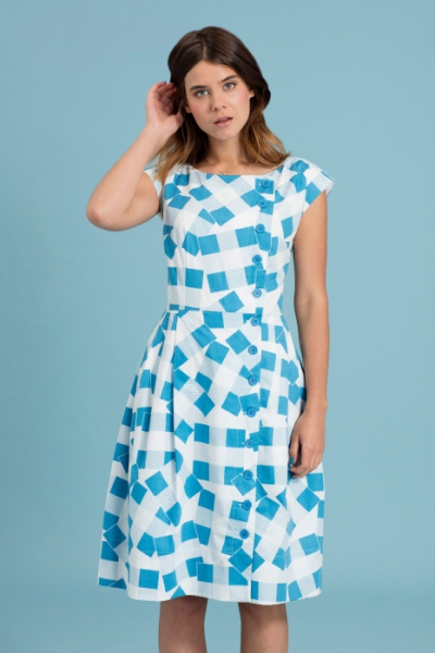 Emily and Fin Nancy Dress Patchwork Picnic in the group Sale! / Women / Dresses at Sivletto - Skylark AB (w12788)