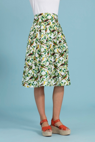 Emily and Fin Florence Skirt Tropical Parakeets in the group Clearance / Women / Skirts at Sivletto - Skylark AB (w12793)