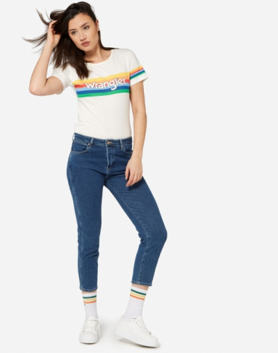 Wrangler Retro Tee Offwhite in the group Clearance / Women / Tops etc at Sivletto - Skylark AB (w12795)