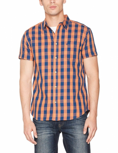 Wrangler 1 Pkt Shirt Brandied Melon in the group Clearance / Men / Shirts at Sivletto - Skylark AB (w12797)