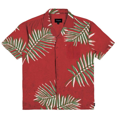 Brixton Lovitz S/S shirt red in the group Clearance / Men / Shirts at Sivletto - Skylark AB (w12803)