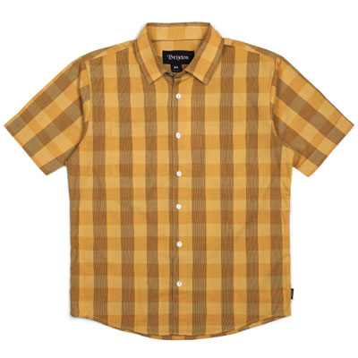 Brixton Branson S/S shirt Mustard in the group Clearance / Men / Shirts at Sivletto - Skylark AB (w12804)