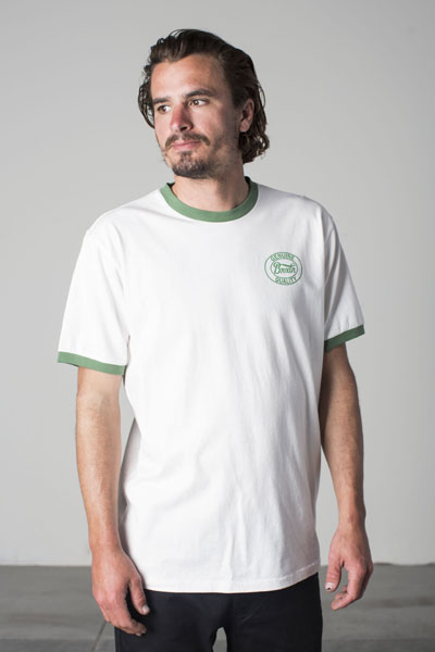 Brixton Merced S/S knit offwhite in the group Sale! / Men / T-shirts at Sivletto - Skylark AB (w12807)