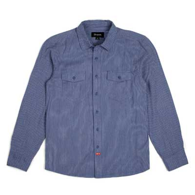 Brixton Olson L/S shirt indigo in the group Clearance / Men / Shirts at Sivletto - Skylark AB (w12821)