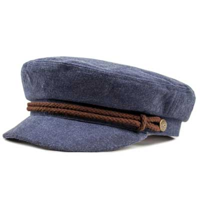 021a2817f8600 Brixton Fiddler cap navy brown in the group Men   Headwear   Sailor hats at