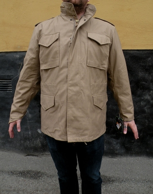 Alpha Industries Inc. M-65 Field Jacket Khaki in the group Men / Jackets and coats at Sivletto (w2982)