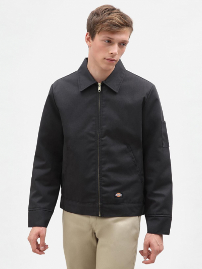 Dickies Eisenhower Jacket Black lined in the group Men / Jackets and coats at Sivletto - Skylark AB (w3960)