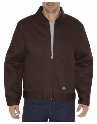 Dickies Eisenhower Jacket Dark Brown lined in the group Men / Jackets and coats at Sivletto (w3961)
