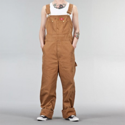 Dickies Bib Overall Rinsed Brown in the group Sale! / Men / Trousers at Sivletto - Skylark AB (w3978)