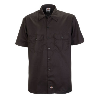 Dickies Shortsleeve work shirt black in the group Men / Shirts, short sleeve at Sivletto - Skylark AB (w4026)
