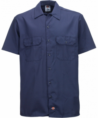 Dickies Shortsleeve Work Shirt Navy Blue in the group Men / Shirts, short sleeve at Sivletto - Skylark AB (w4027)