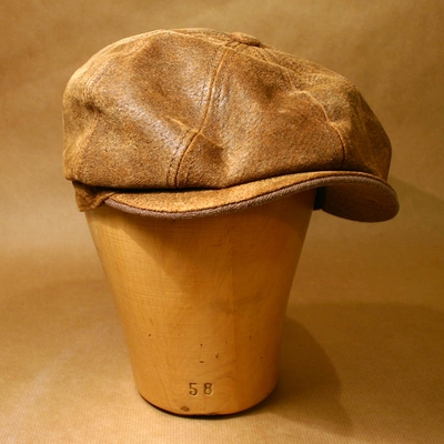 Stetson Burney Leather Cap in the group Sale! / Men / Headwear at Sivletto - Skylark AB (w4160)