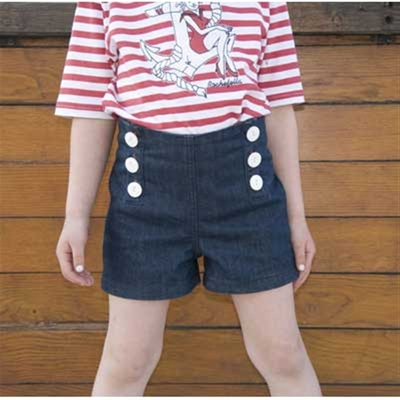 Katie high waist shorts in the group Kids / 2 – 8 years at Sivletto (w4695)