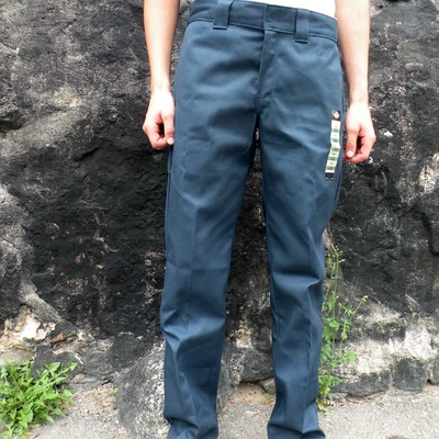 Dickies 873 Slim Straight Work Pant Navy Blue in the group Men / Mens Pants at Sivletto (w4815)