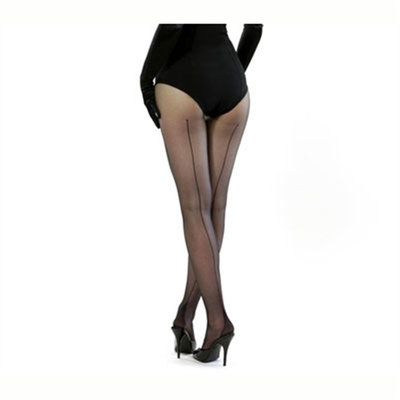 What Katie Did Retro seamed tights black in the group Women / Undergarments at Sivletto (w5248)