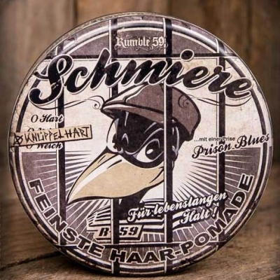 Schmiere - Special Edition - Knüppelhart in the group Hair and skincare / Pomade / Oil based pomade at Sivletto - Skylark AB (w5269-Prison)