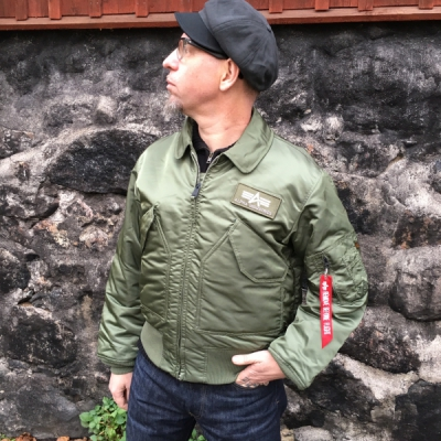 Alpha Industries Inc. CWU 45 Sage green in the group Men / Jackets and coats at Sivletto (w5407)