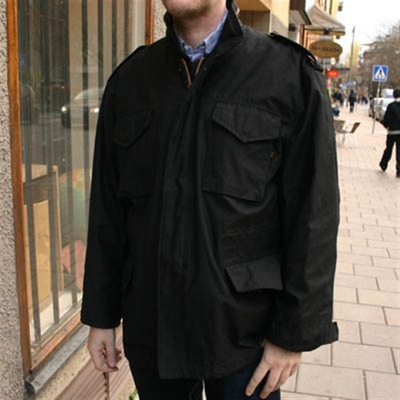 Alpha Industries Inc. M-65 Field Jacket Black in the group Men / Jackets and coats at Sivletto (w5408)