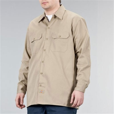 Dickies 574 Longsleeve work shirt khaki in the group Men / Shirts, long sleeve at Sivletto (w5423)