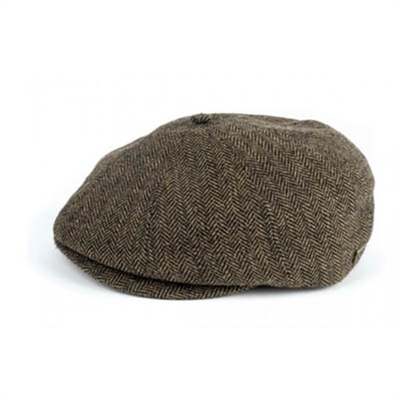 Brixton Brood brown/khaki herringbone in the group Men / Headwear at Sivletto - Skylark AB (w5593)