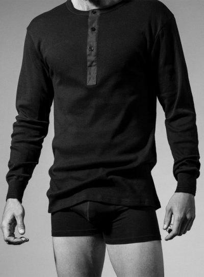 Resteröds Grandpa Shirt Original Black in the group Men / Undergarments at Sivletto - Skylark AB (w5741)