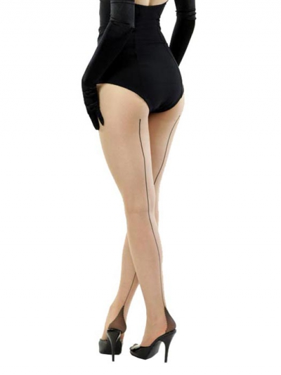 What Katie Did Contrast Seamed Tights in the group Women / Undergarments at Sivletto (w6018)