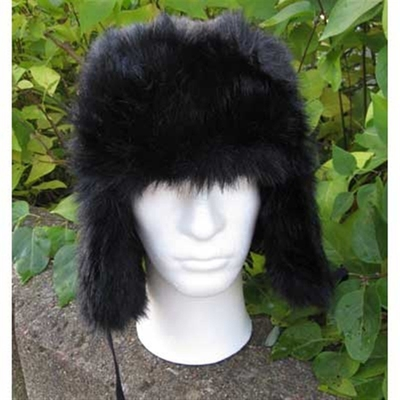 Black fake fur hat in the group Clearance / Men / Headwear at Sivletto (w6019)