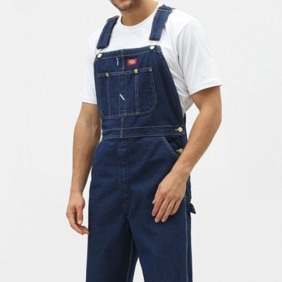 Dickies Bib Overall Rinsed Indigo Blue in the group Men / Bib Overalls at Sivletto - Skylark AB (w604)