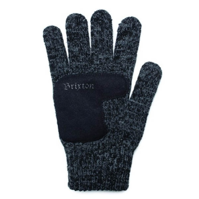 Brixton Butcher Gloves Heather Black in the group Men / Accessories at Sivletto (w6086)