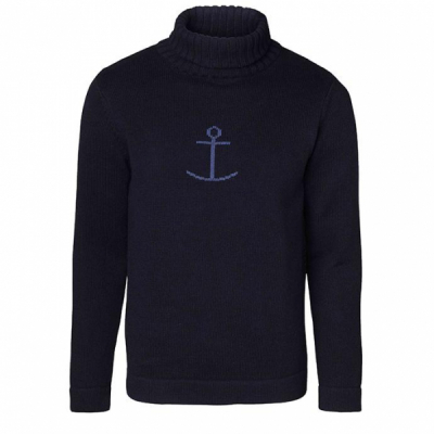 Jumperfabriken Haddock turtleneck Marine  in the group Men / Sweaters at Sivletto (w6329)