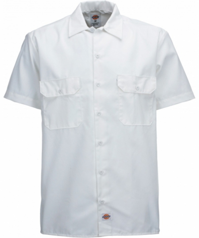 Dickies Shortsleeve Work Shirt White in the group  at Sivletto (w6369)