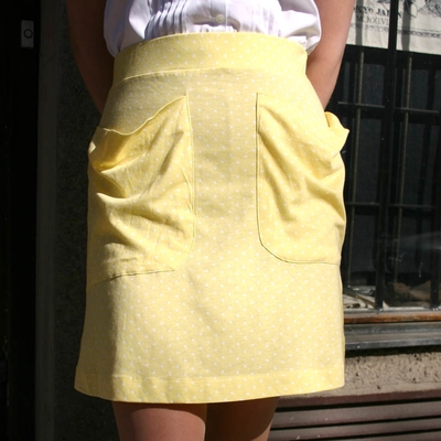 Annie Skirt Yellow in the group Clearance / Women / Skirts at Sivletto (w6411)