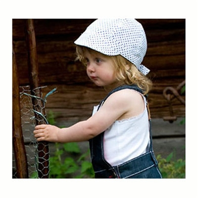CTH Bella Jr. Dots Blue kids hat in the group Kids / Accessories at Sivletto (w6412)