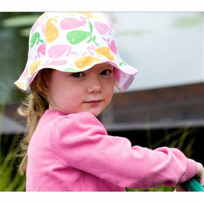 CTH Ellen Jr. Whales Pink kids hat in the group Kids / Accessories at Sivletto (w6417)