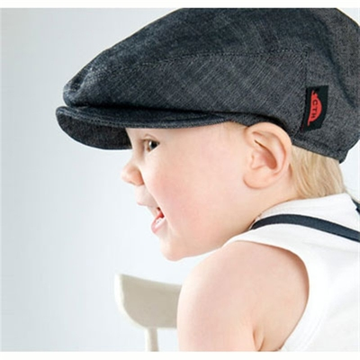 CTH Carl kids cap organic denim in the group Kids / Accessories at Sivletto (w6420)